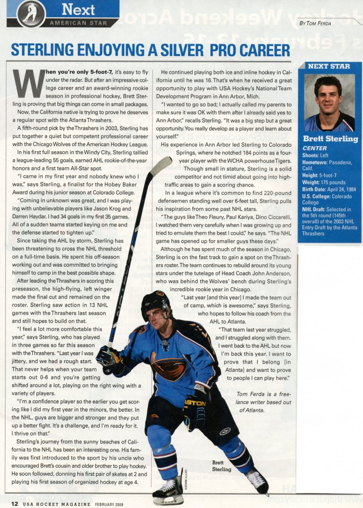 USA Hockey Mag Sterling