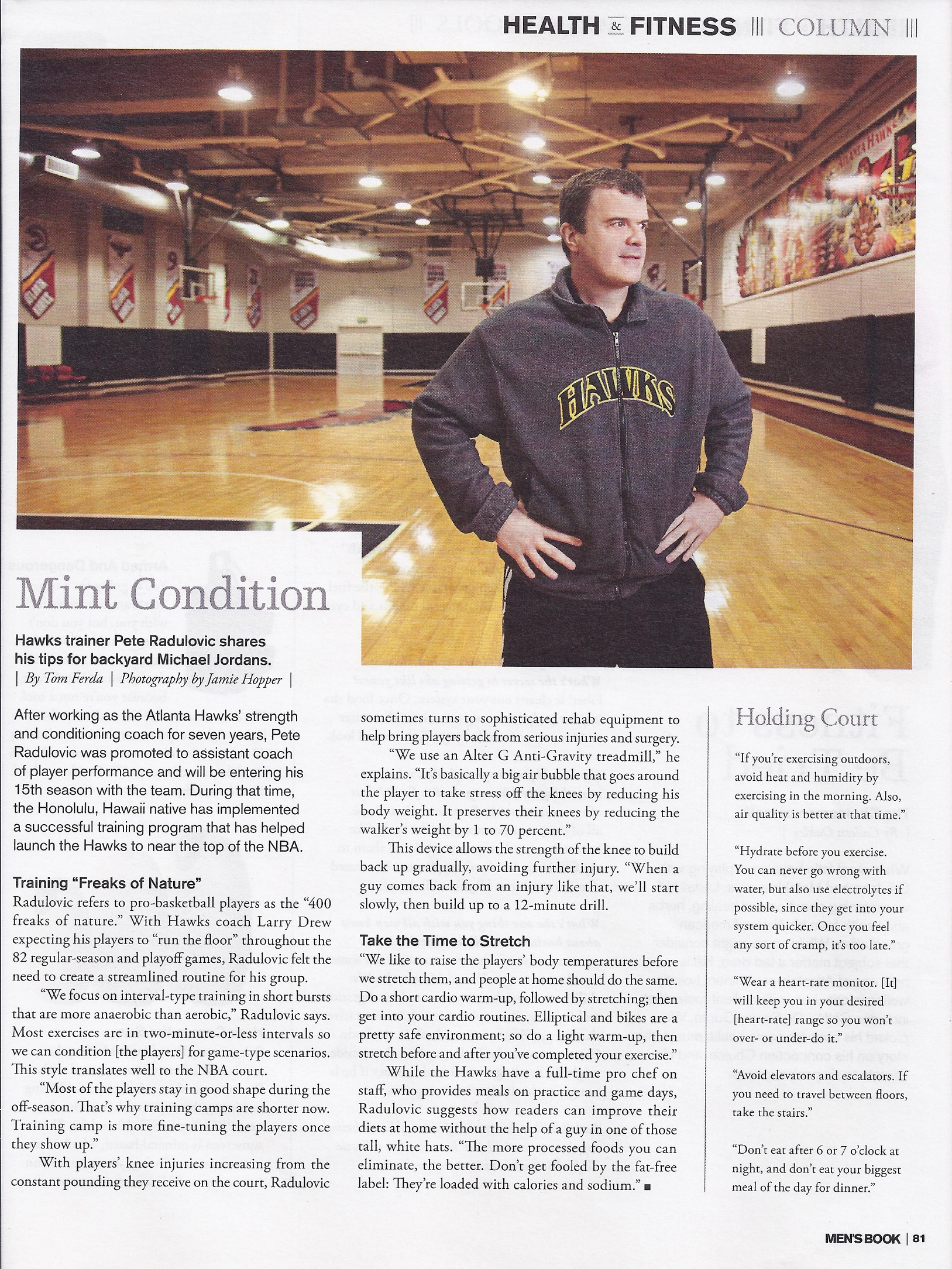 Hawks trainer article