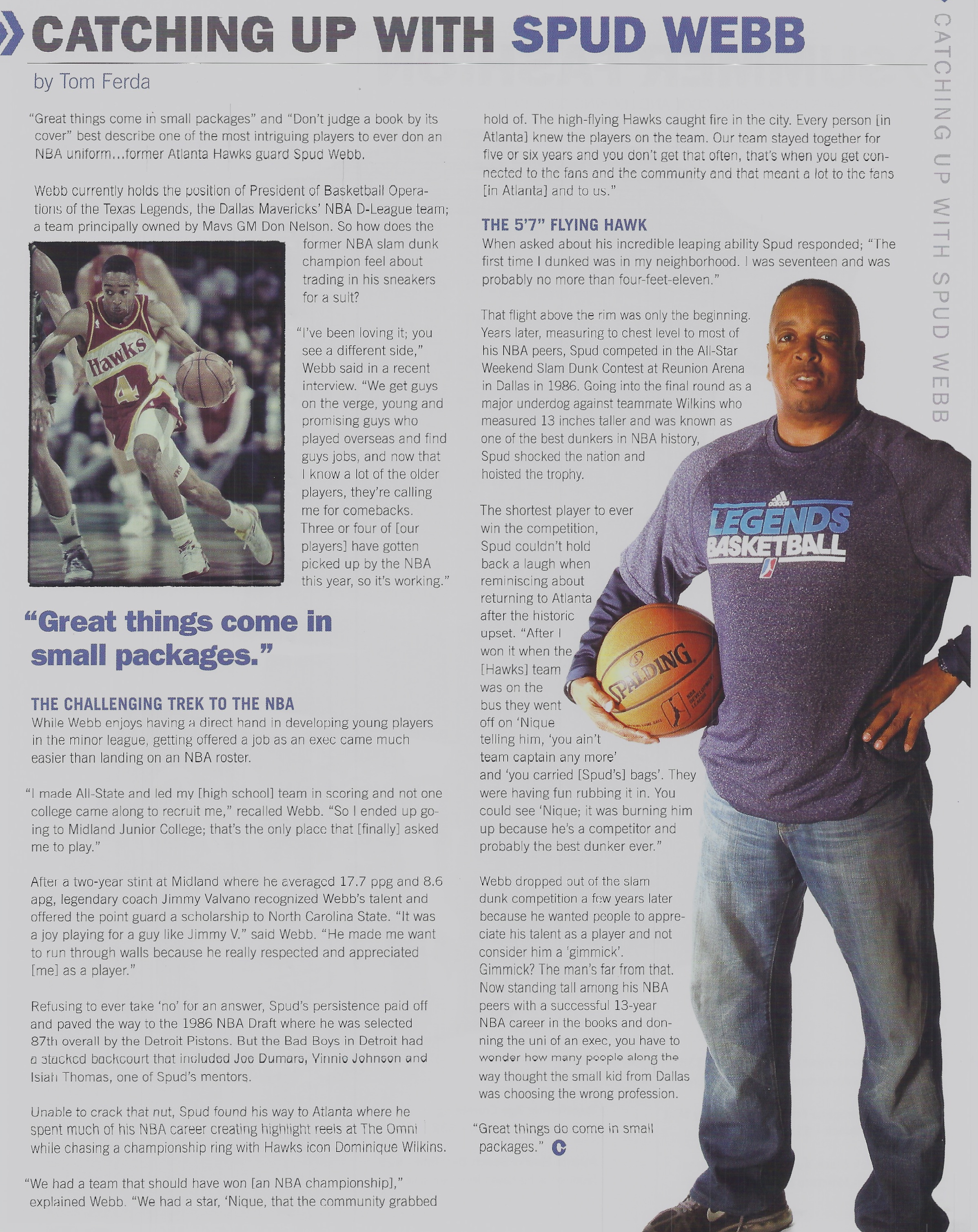 Catching up With Spud Webb